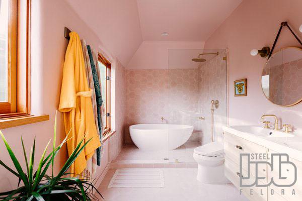 رنک کاشی توالت صورتی